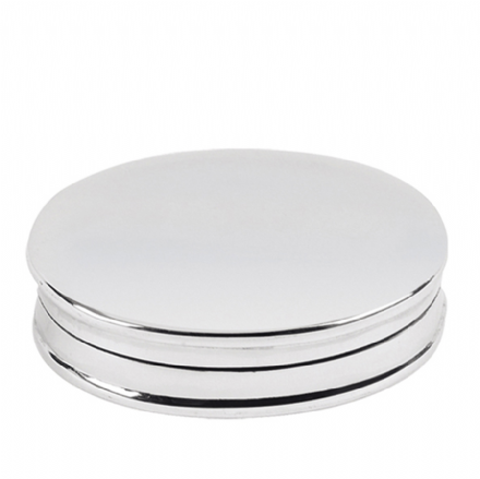 Sterling Silver Plain Oval Pillbox